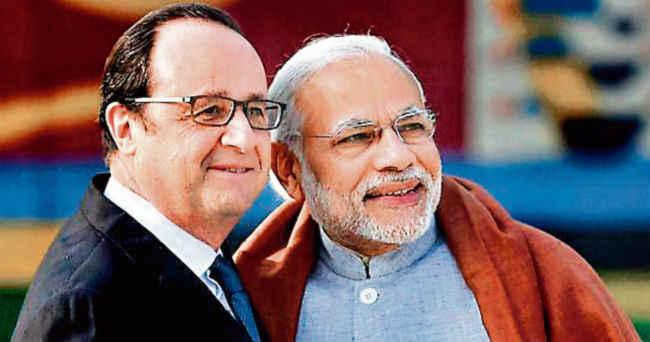 भारत फ्रांस हिंद प्रशांत क्षेत्र