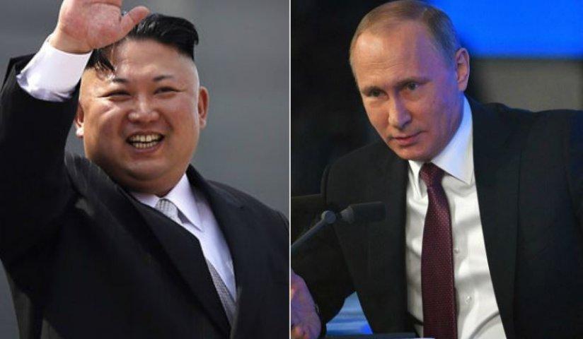 किम जोंग उन व व्लादिमीर पुतिन