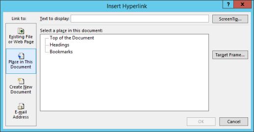 hyperlink in ms word in hindi