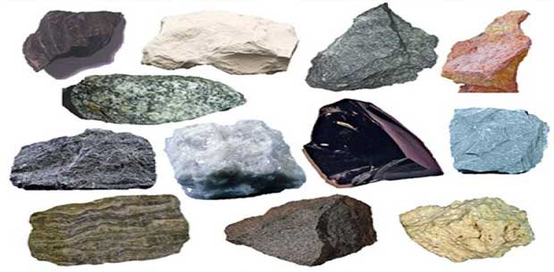 types of rocks in hindi