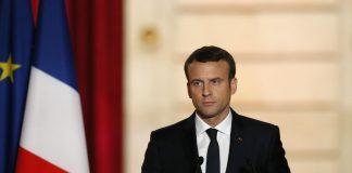 फ्रांस राष्ट्रपति मैक्रॉन