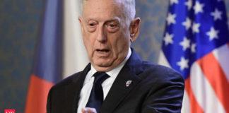 अमेरिकी रक्षा मंत्री जेम्स मैटिस