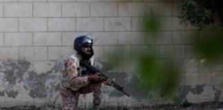 पाकिस्तान में स्थित चीनी दूतावास पर तैनात सैनिक