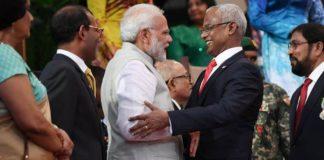भारतीय प्रधानमन्त्री नरेन्द्र मोदी और मालदीव के राष्ट्रपति इब्राहीम सोलिह