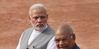 भारत के प्रधानमंत्री नरेन्द्र मोदी और राम नाथ कोविंद