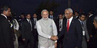 मालदीव में शपथ ग्रहण समारोह में भारतीय पीएम नरेन्द्र मोदी