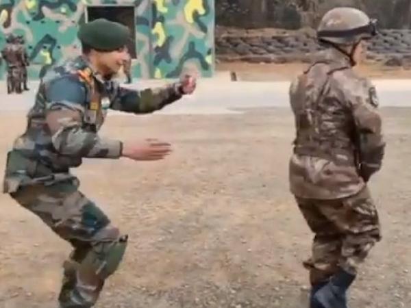 भारतीय और चीनी सैनिकों का डांस हुआ वायरल