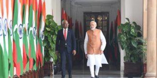 मालदीव के राष्ट्रपति इब्राहीम सोलिह और पीएम नरेंद्र मोदी