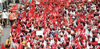 सरकार के खिलाफ रैली में शामिल किसान