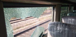 ट्रेन 18 पर पत्थरबाजी