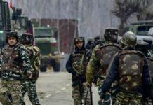 कश्मीर में तैनात भारतीय सेना