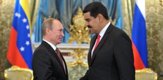 वेनेजुएला के नेता निकोलस मदुरो और रूसी राष्ट्रपति व्लादिमीर पुतिन