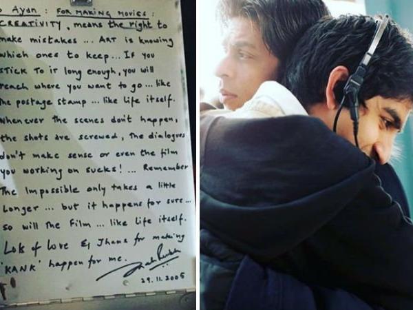 शाहरुख़ खान के साथ तस्वीर डालने के बाद, अयान मुख़र्जी ने साझा किया अभिनेता द्वारा लिखा गया एक नोट