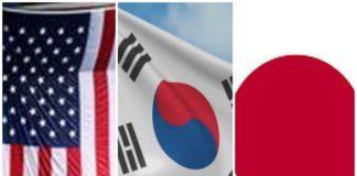 अमेरिका,जापान और दक्षिण कोरिया
