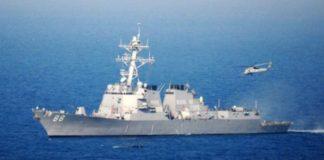 दक्षिणी चीनी सागर पर अमेरिकी युद्धपोत