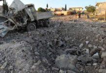 इदलिब में भारी बमबारी