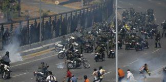 वेनेजुएला में संघर्ष जारी