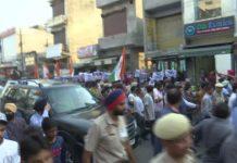 protests priyanka gandhi