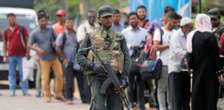 श्रीलंका में सेना का सन्देश