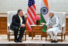 narendra modi and mike pompeo