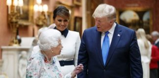 महारानी और डोनाल्ड ट्रम्प