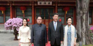 xi jingping and kim jong un and thier wives