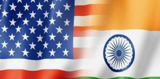 भारतीय और अमेरिकी ध्वज
