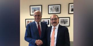 भारतीय राजदूत के साथ ज़लमय खलीलजाद