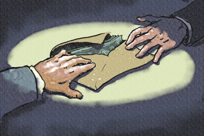 paragraph on corruption in hindi