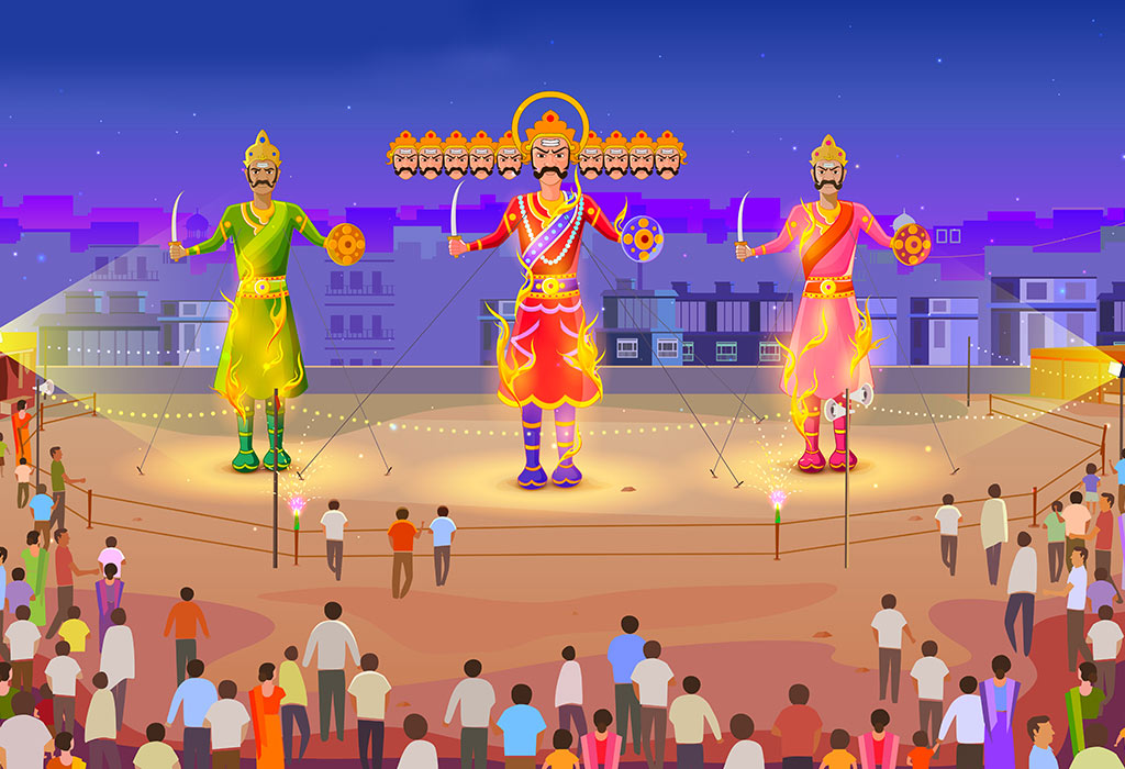 paragraph on dussehra in hindi