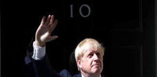 Britain's new Prime Minister, Boris Johnson, enters Downing Street, in London