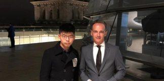 जर्मनी के विदेश मंत्री और हांगकांग कार्यकर्ता