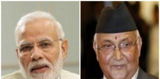 नरेंद्र मोदी और केपी शर्मा ओली