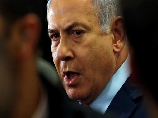 Israeli Prime Minister Benjamin Netanyahu speaks to the media at the Knesset, Israel's parliament, in Jerusalem