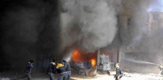 सीरिया में बमबारी